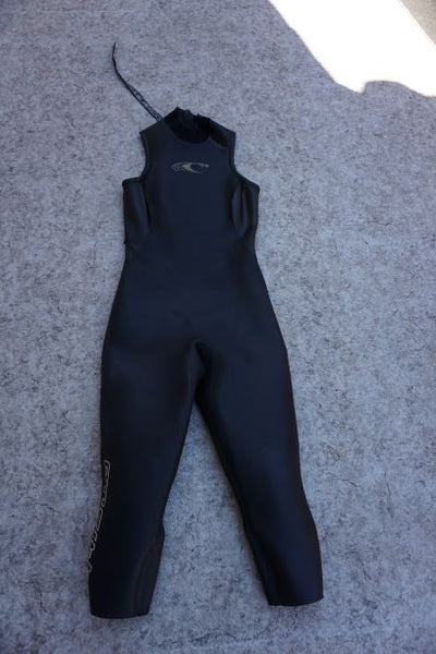 Wetsuit Ladies Size 10-12 Oneil 3/4 Leg Full Dive Surf  3-4 mm Neoprene Black