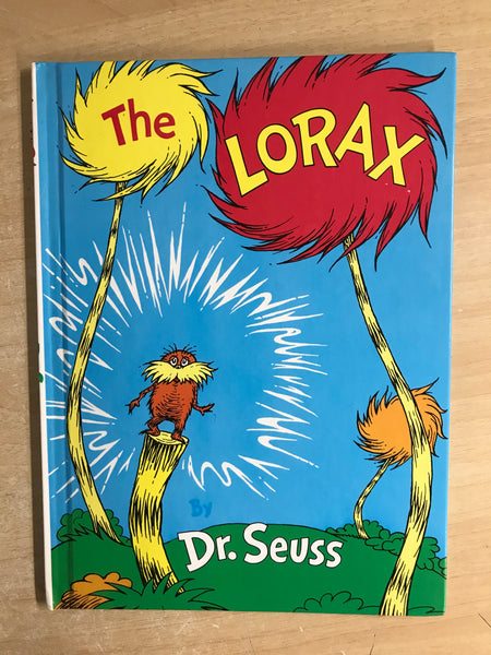 Dr. Seuss Large The Lorax Hard Covered Children's Book As New