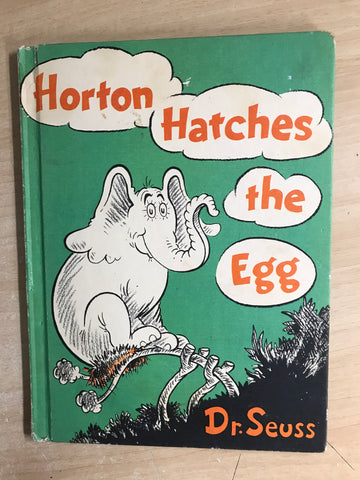 Dr. Seuss Large Vintage Horton Hatches The Egg Hard Covered Children's Book