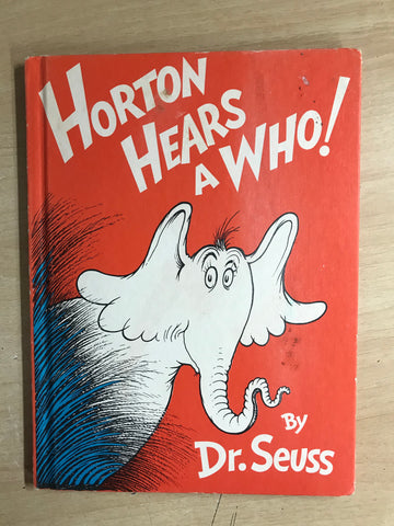 Dr. Seuss Large Vintage Horton Hears A Who Hard Covered Children's Book
