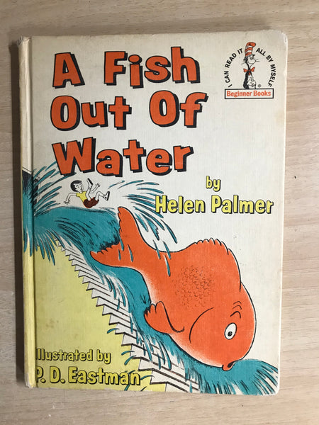 Dr. Seuss Vintage A Fish Out Of Water 1961 Children's Book