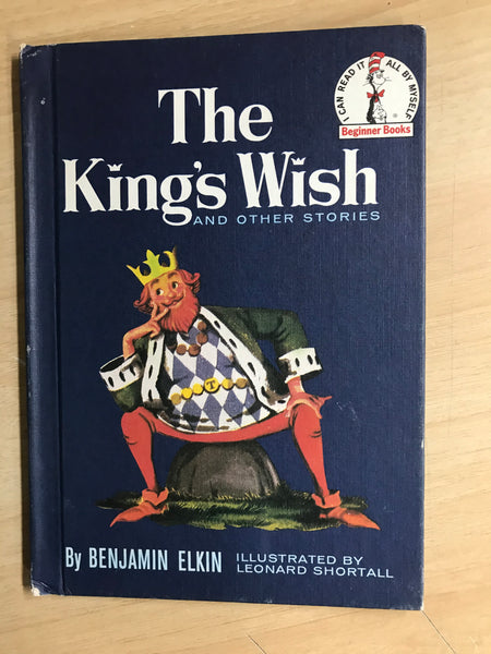 Dr. Seuss Vintage The Kings Wish 1960 Children's Book