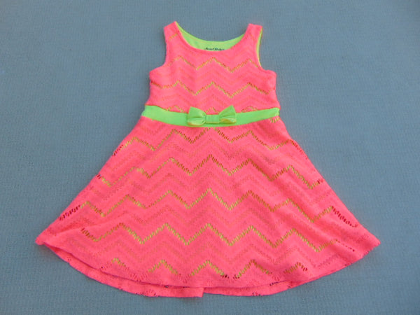 Dress Sun Child Size 6 Sweet Vintage Pink Yellow Polyester