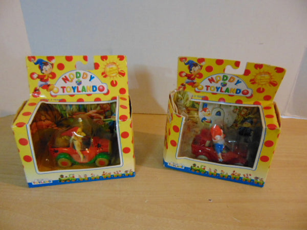 Enid Blyton's Noddy In Toyland England Die Cast Cars Toyland Firetruck and Gobbo's Cars In New Packages Are Damaged