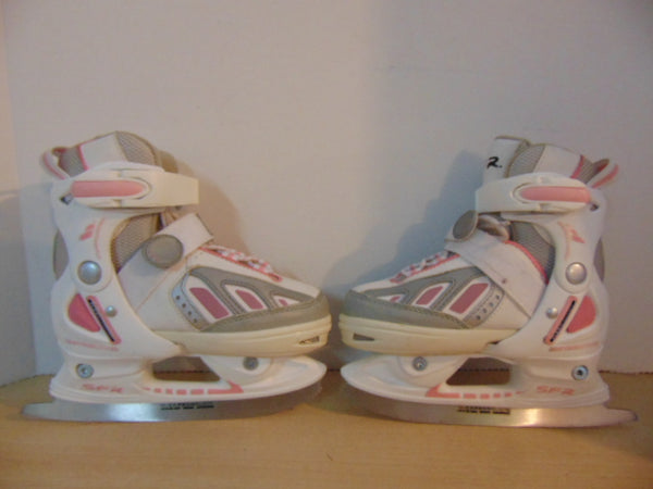 Figure Skates Child Size 10-13 SFR Limited Edition Adjustable White Pink Fantastic Quality Excellent