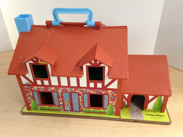 Fisher Price Vintage 1979 Play Family 952 Tudor Brown House With Nursery
