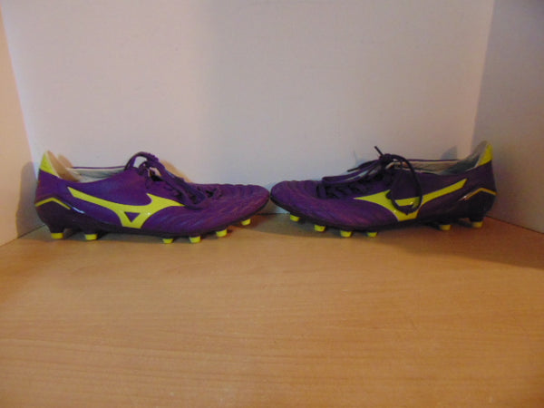 Football Soccer Shoes Cleats Men's Size 11 Mizuno Professional Model Purple As New