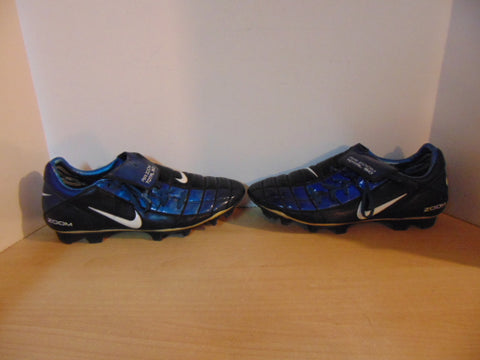 Football Soccer Shoes Cleats Men's Size 12 Nike Air Zoom Total 90 Blue Black Excellent