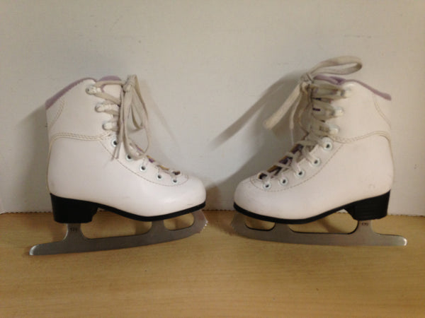 Figure Skates Child Size 10  Jackson Soft Skates White Purple Few Marks