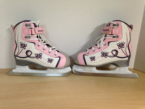 Figure Skates Child Size 13 Glitter Girl Pink Purple New Demo Model