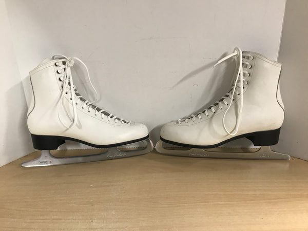 Figure Skates Ladies Size 8.5 Don Jackson Leather With Mark II Blades Excellent