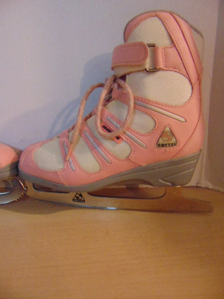 Figure Skates Child Size 3 Jackson Soft Skate Pink Grey Minor Wear