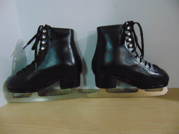 Figure Skates Child Size 2 Black leather Made in Australia Amazing Quality