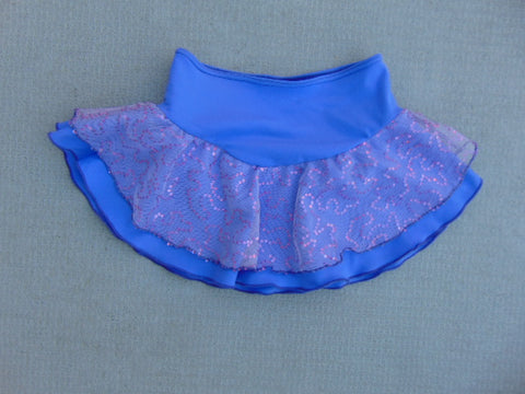 Ballet Dance Figure Skating Dress Child Size 8-10 Skirt Purple With Sequenses Stretch Nylon New Demo Model