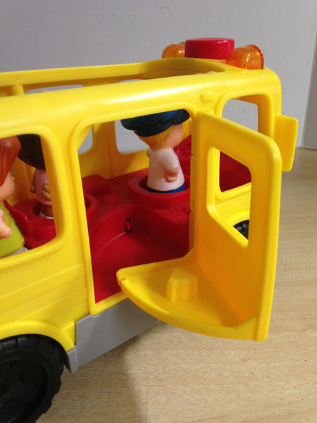 Fisher Price Little People Happy School Bus Real Sounds Excellent