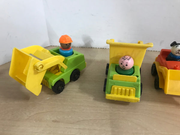 Fisher Price Vintage 1970'S Little People Construction Crew RARE