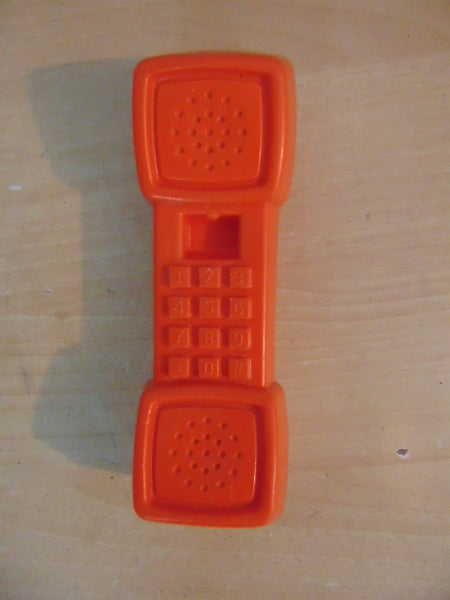 Fisher Price Play Family Kitchen Fun With Food Orange Play Phone Vintage 1987 Rare 7 inch