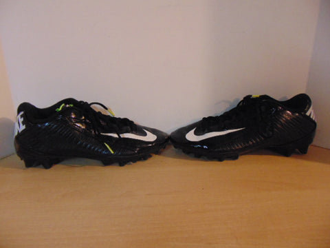 Football Rugby Cleats Men's Size 10.5 Nike Strike As New Black White Lime Fantastic Quality