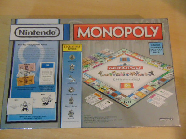 Y Game Monopoly Nintendo Collectors Edition New Factory Sealed 2014