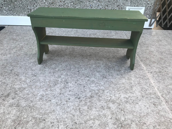 Garden Wood Bench 18 x 11 x 3 Solid Wood Well Made