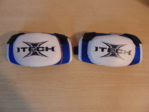 Hockey Elbow Pad Child Size Y Small 3-4 Itech Soft Ice or Ball Hockey Blue White
