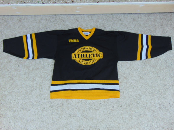 Hockey Jersey Men's Size X Large Alpha Vintage Victoria Police VMHA RARE Black Yellow White