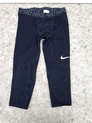 Hockey Base Layer Long Johns  Child Size Junior Large 10-12 Nike Dry Fit Pro Black Excellent