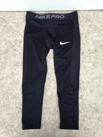 Hockey Base Layer Long Johns Child Size Junior Large 12 Nike Dry Fit Pro Black Excellent