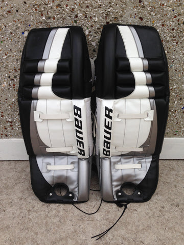 Hockey Goalie Shin Pads Men's 34 inch Bauer Black White New Demo Model