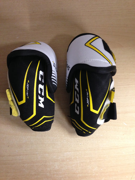 Hockey Elbow Pads Child Size Junior Large CCM Tacks Vector Plus Black Yellow New Demo Model