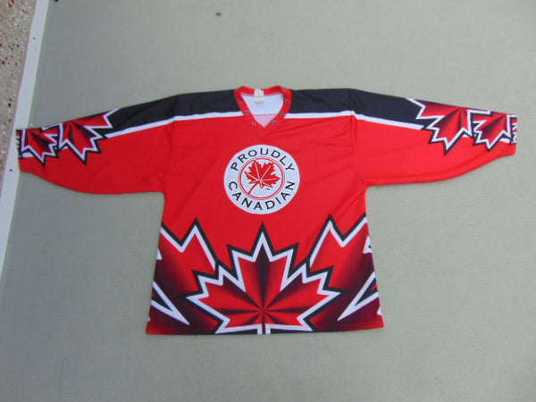 Hockey Jersey Men's Size X Large Proudly Canadian Red White Black New Demo Model