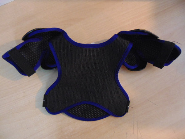 Hockey Shoulder Chest Pad Child Size Y Medium Age 4-5 Canadien Blue Black  Excellent