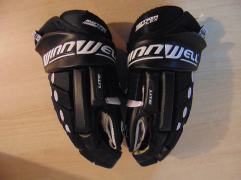Hockey Gloves Men's Size 15 inch Winnwell Lock Thumb As New Black White Excellent