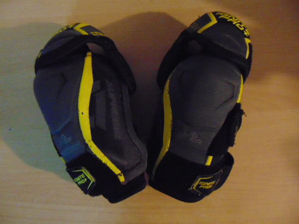 Hockey Elbow Pads Child Size Junior Large Bauer Ignite Pro Grey Yellow Black As New