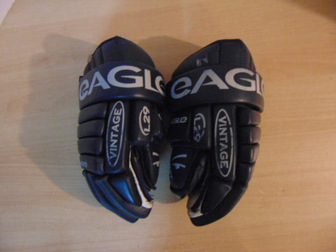 Hockey Gloves Men's Size 15 inch Gagle Made In Canada Marine Blue No Holes RARE
