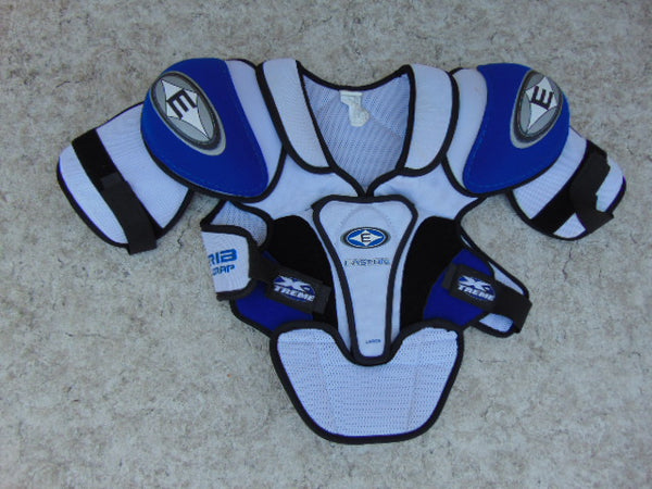 Hockey Shoulder Chest Pad Men's Size Large Easton Blue White Excellent