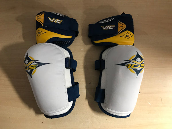 Hockey Elbow Pads Men's Size Small Vic Blue White Yellow Excellent