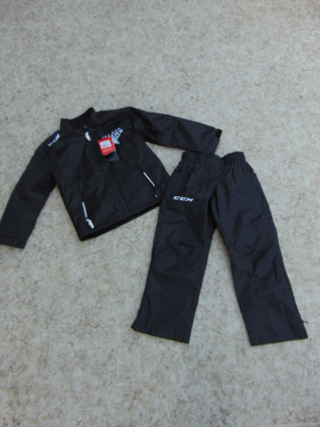 Hockey Coat and Rain Pants Warm Up 2 pc Set Child Size 6-7 CCM Tactical Wear NEW With Tags Street Ice Ball