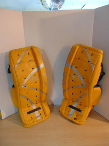 Hockey Goalie Pads Junior Size 27 inch Reebok 5K Gold Black As New