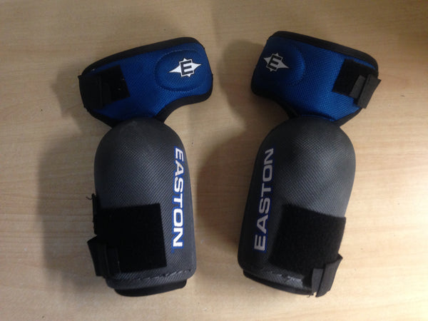 Hockey Elbow Pads Men's Size Small Easton 3 Straps Blue Grey Excellent