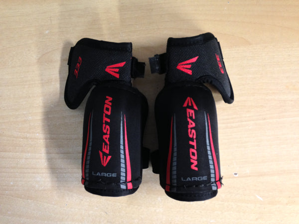 Hockey Elbow Pad Child Size Y Large 5-6 Easton Black Red Excellent