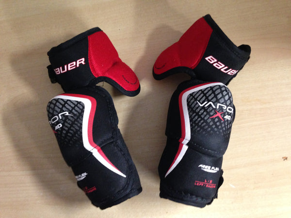 Hockey Elbow Pads Child Size Junior Large Bauer Vapor X 4.0 Black Red Excellent