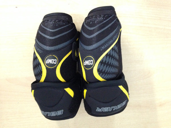 Hockey Elbow Pads Child Size Junior Small Bauer Comp Black  Yellow