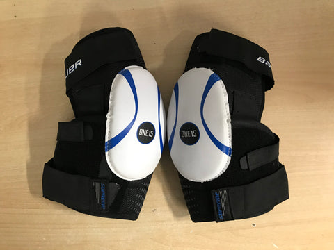 Hockey Elbow Pads Men's Size Small Bauer Supreme One 15 Black Blue White Soft Cup