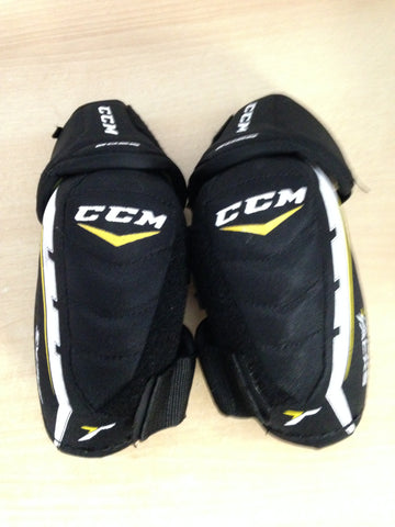 Hockey Elbow Pads Men's Size Small CCM Tacks Black Gold White