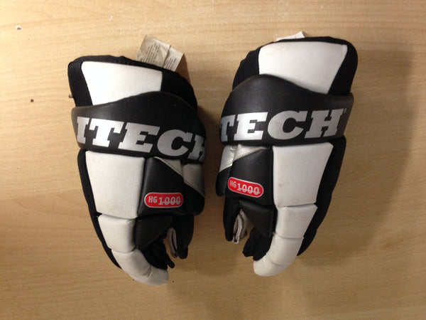 Hockey Gloves 10 inch Itech Black White No Holes
