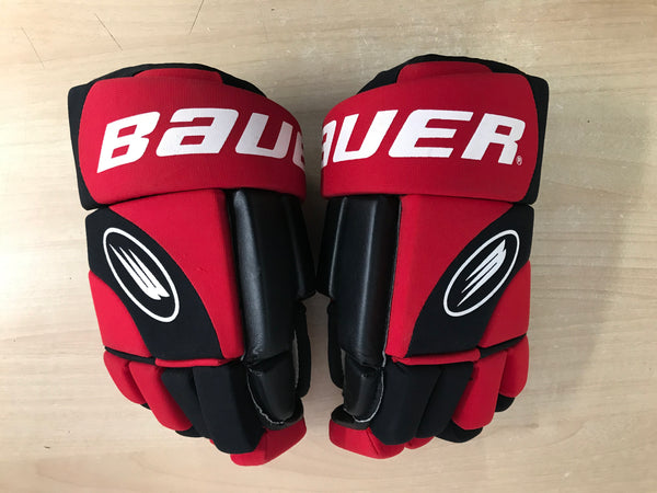 Hockey Gloves Men's Size 14 inch Bauer Impact Black Red