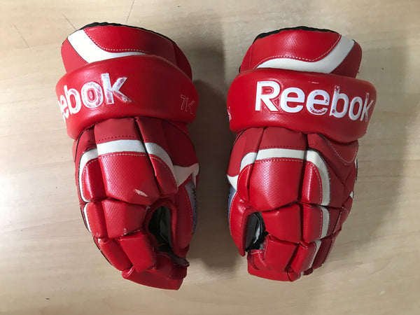 Hockey Gloves Men's Size 14 inch Reebok 7K Red Fantastic Quality