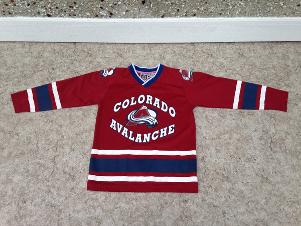 Hockey Jersey Child Size 8 Colorado Avalanche Excellent