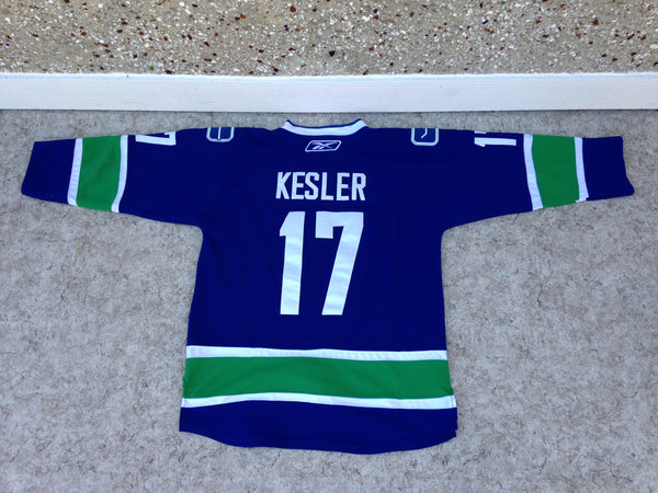 Hockey Jersey Men's Size X Large Reebok Vancouver Canucks Kesler As New